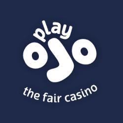 Playojo Casino Logo Presented on Blue Background